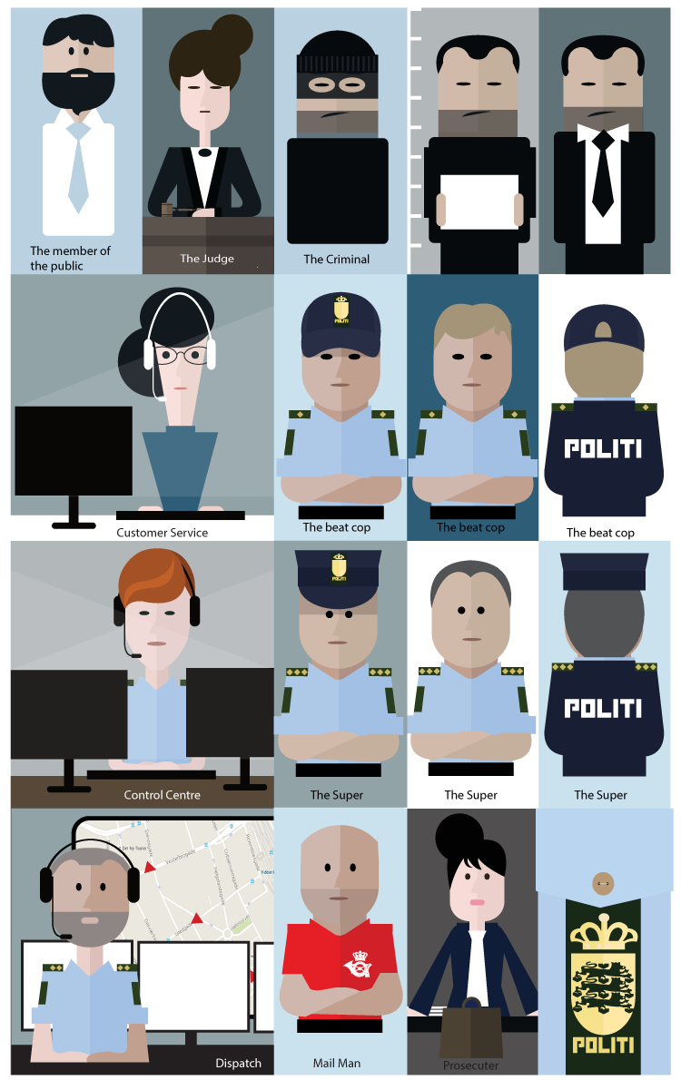 Character illustration - Danish Police