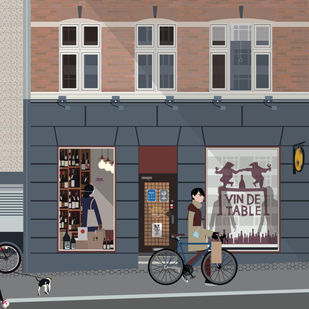 Vin de Table shop illustration