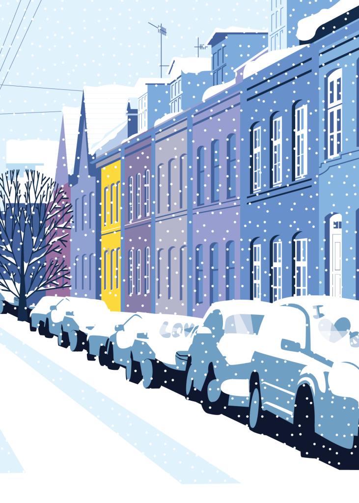 Olufsvej snow