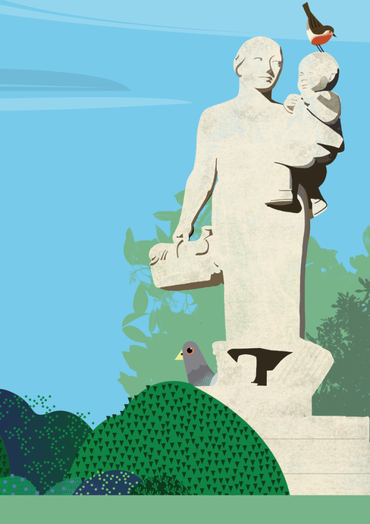 Ove-Rode-statue-and-robin