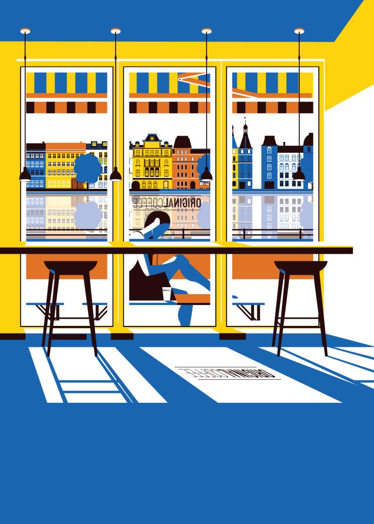 Summer- café visit - Copenhagen