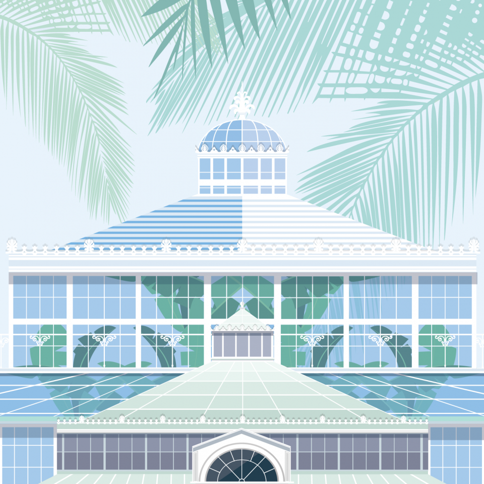Botanical Garden - Copenhagen illustration