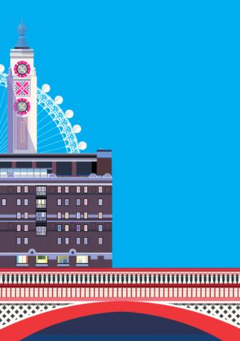 Blackfriars Bridge, The OXO Tower and the London Eye