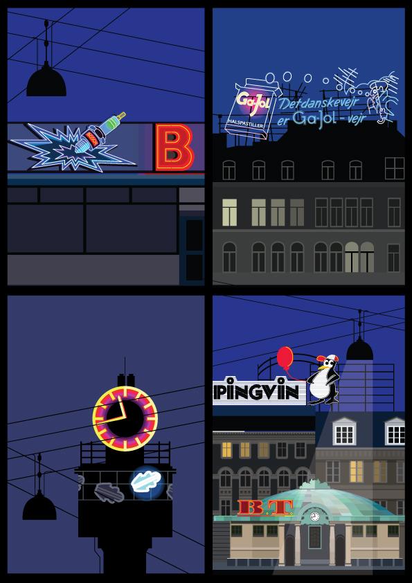 Neon-postcards