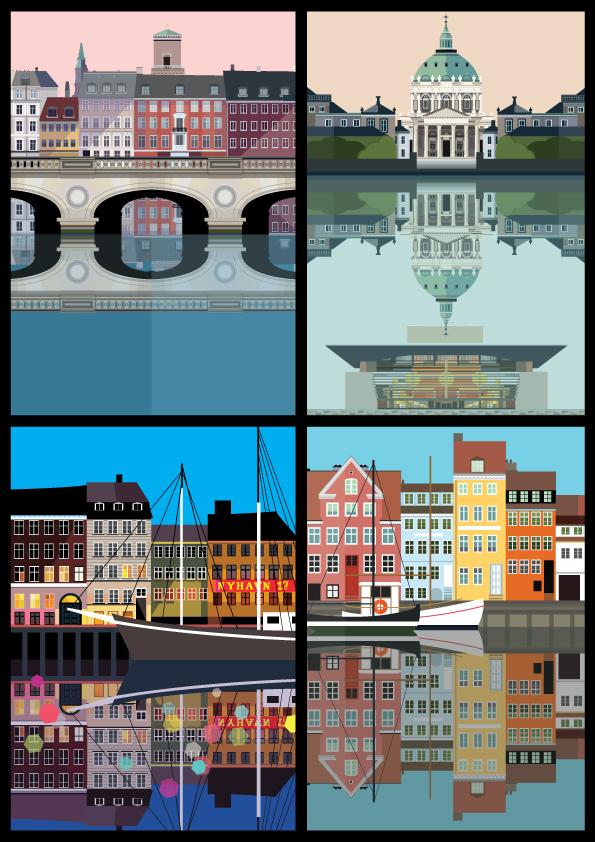 Reflection-postcards